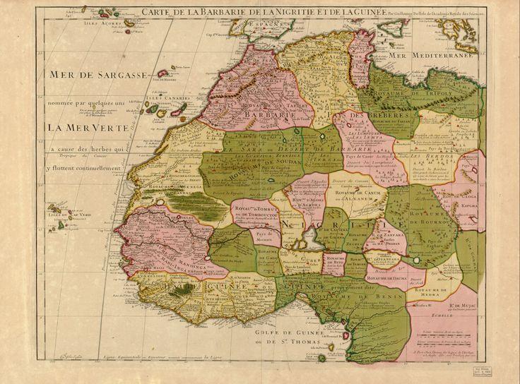 Guillaume Delisle North West Africa 1707 Grafisk design
