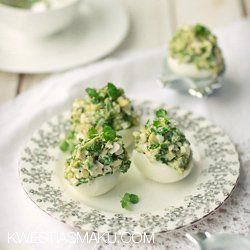 Jajka faszerowane awokado | Kwestia Smaku