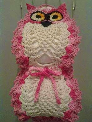 Crochet toilet paper owl holder free pattern, plus scads more crochet patterns/charts: