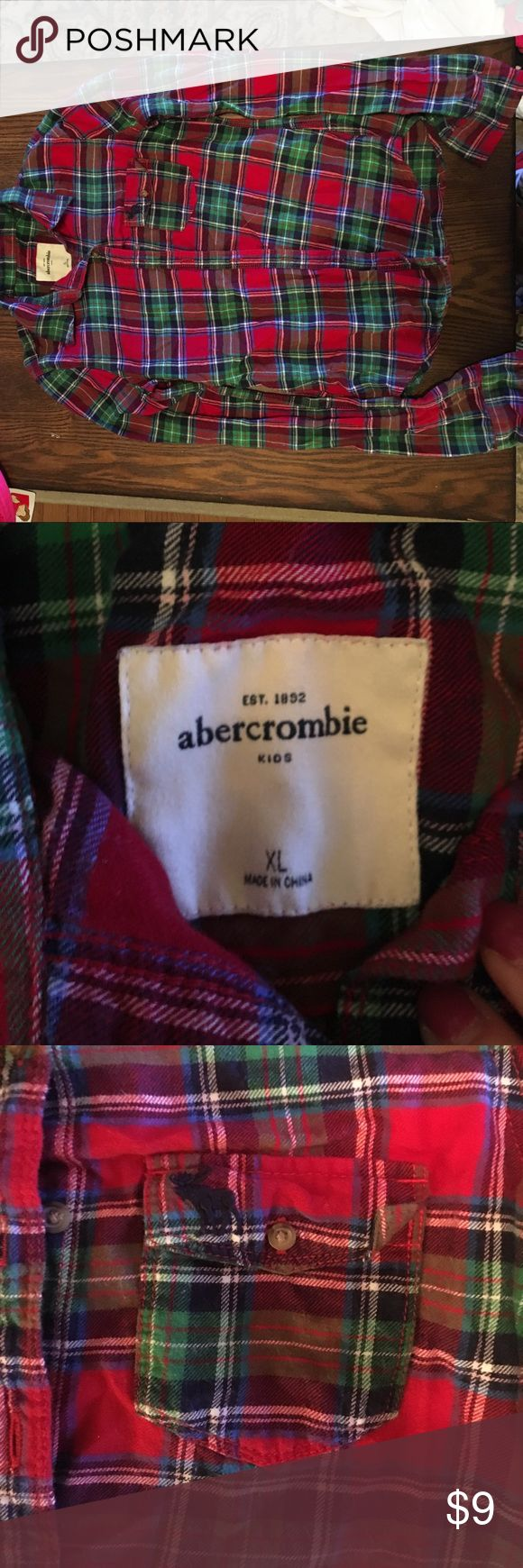 Abercrombie kids flannel This is a girls extra large flannel from abercrombie kids. It is in good condition and is perfect for fall. Please feel free to make an offer. abercrombie kids Shirts & Tops Button Down Shirts