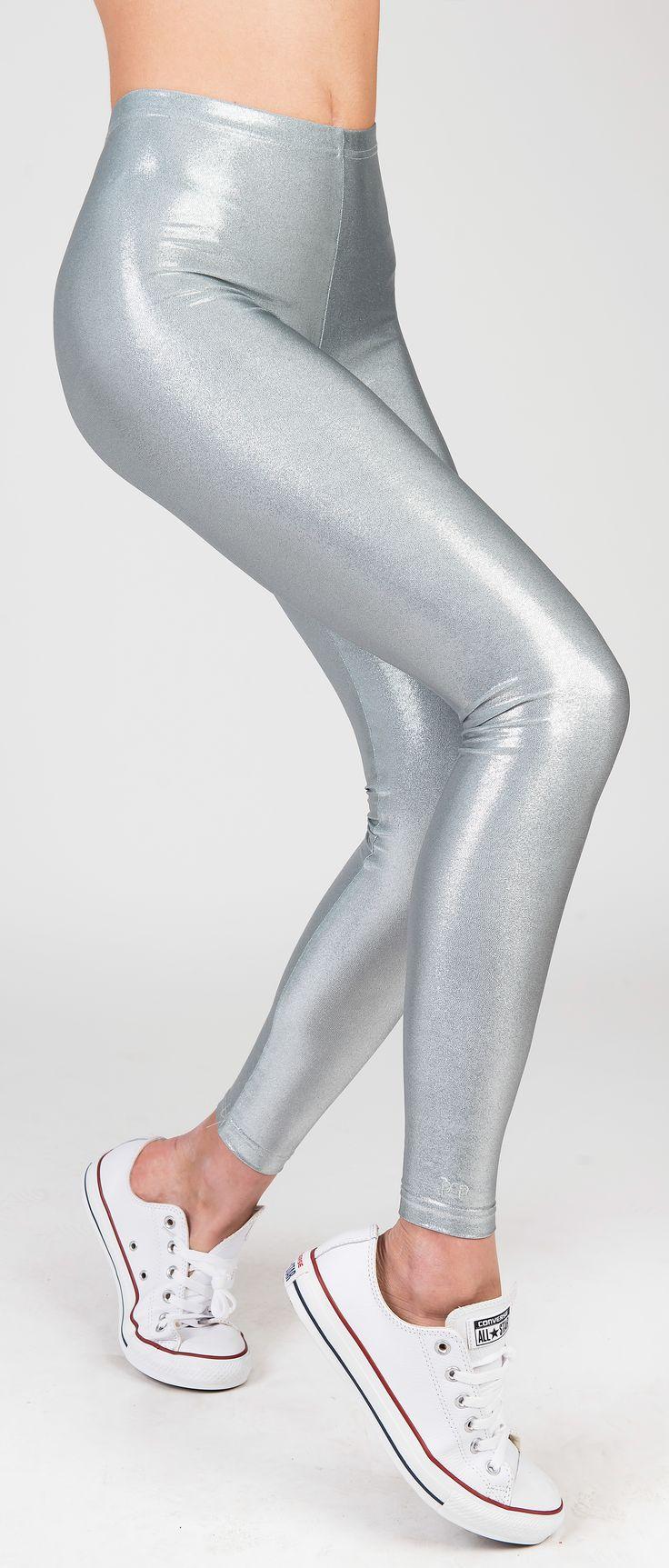 PCP Oblivion - silver glitter leggings