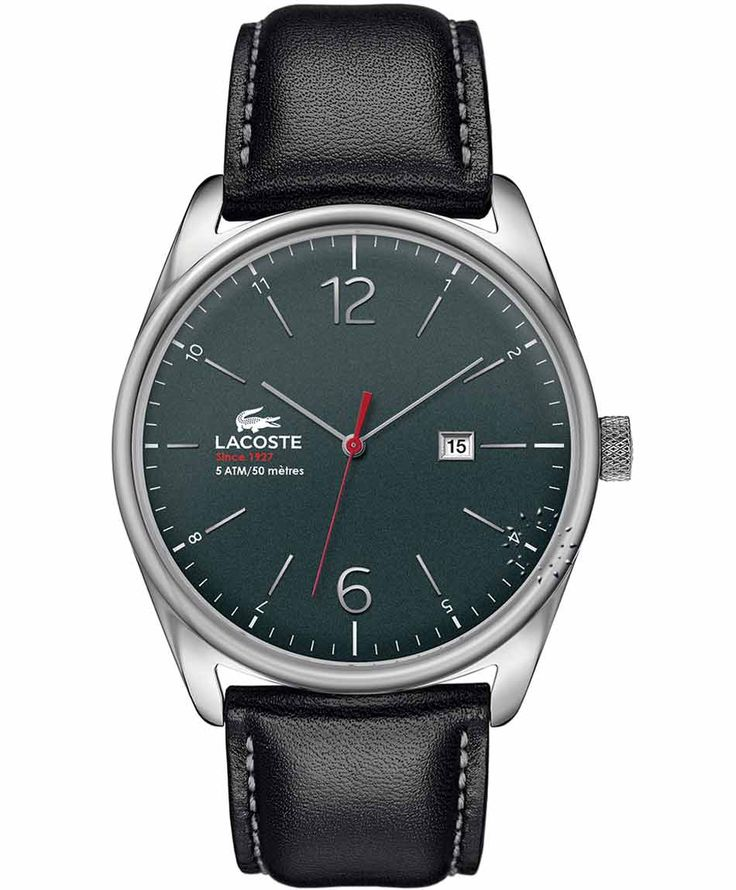 LACOSTE Austin Black Leather Strap Η τιμή μας: 119€ http://www.oroloi.gr/product_info.php?products_id=34731