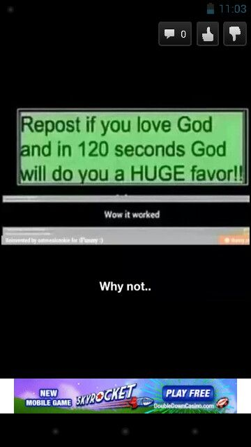 Who cares about the favor repost if you love God!!!<----REPOST!! I agree ^_^