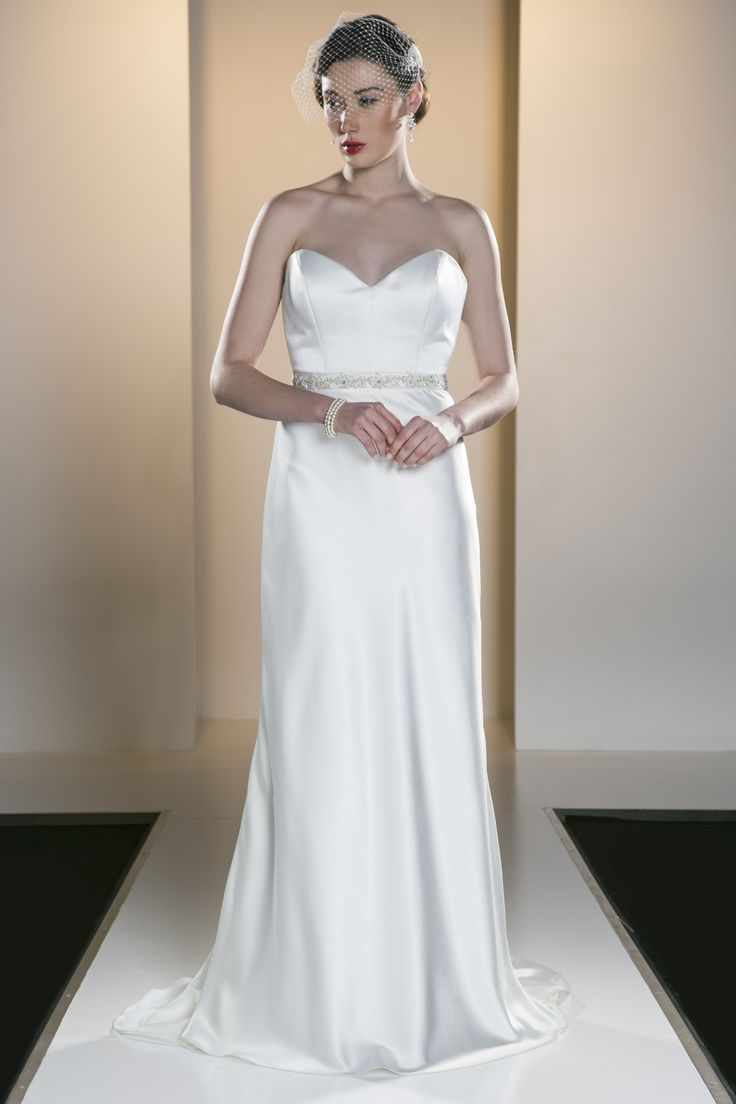 OCA 550T 'Julieanne' A sweetheart neckline bodice and soft fishtail gown in a timeless silhouette in Satin back Crepe.