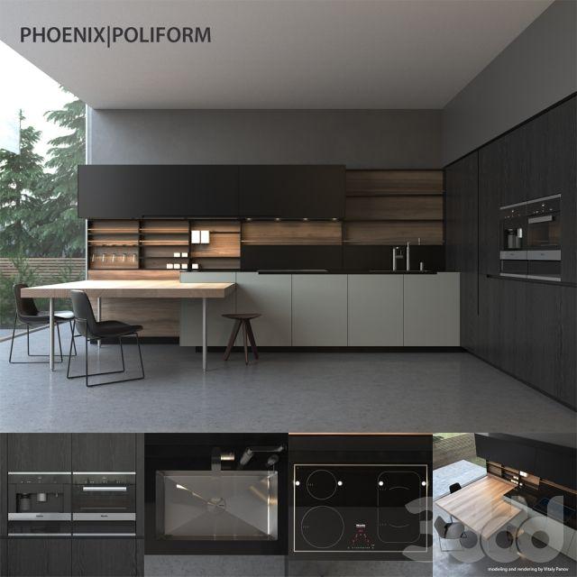Кухня Poliform Varenna Phoenix
