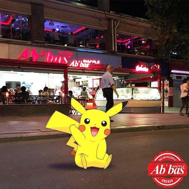 Hafta sonu Pokemon yakalamaya çalışırken yolunuz Abbas Waffle'a düşerse bekleriz! #AbbasWaffleAnkara #İyiHaftaSonları #PokemonGo