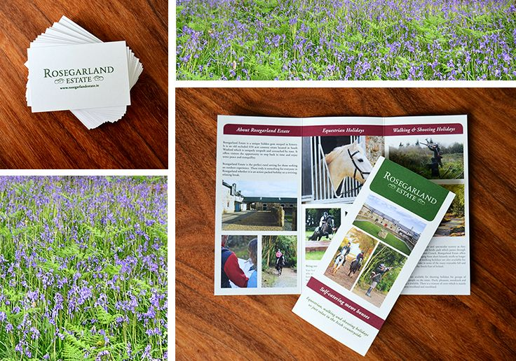 New design work for http://rosegarlandestate.ie , look them up for your perfect countryside retreat! #logodesign #brochures #businesscards #design #akgraphics www.akgraphics.ie