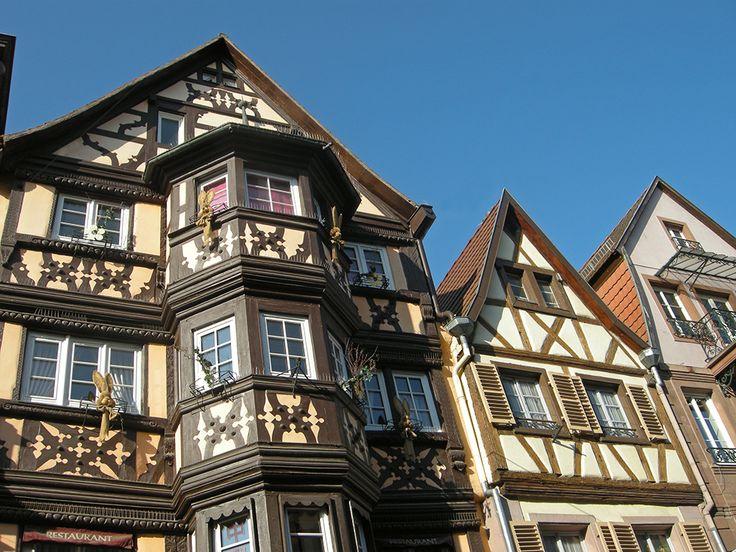Les façades à colombages Grand'Rue à Saverne.