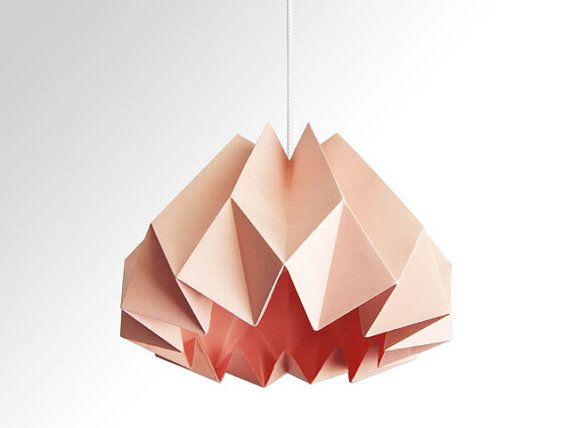One of my table lamps is missing a shade. This pink origami paper lamp shade would match perfectly.
