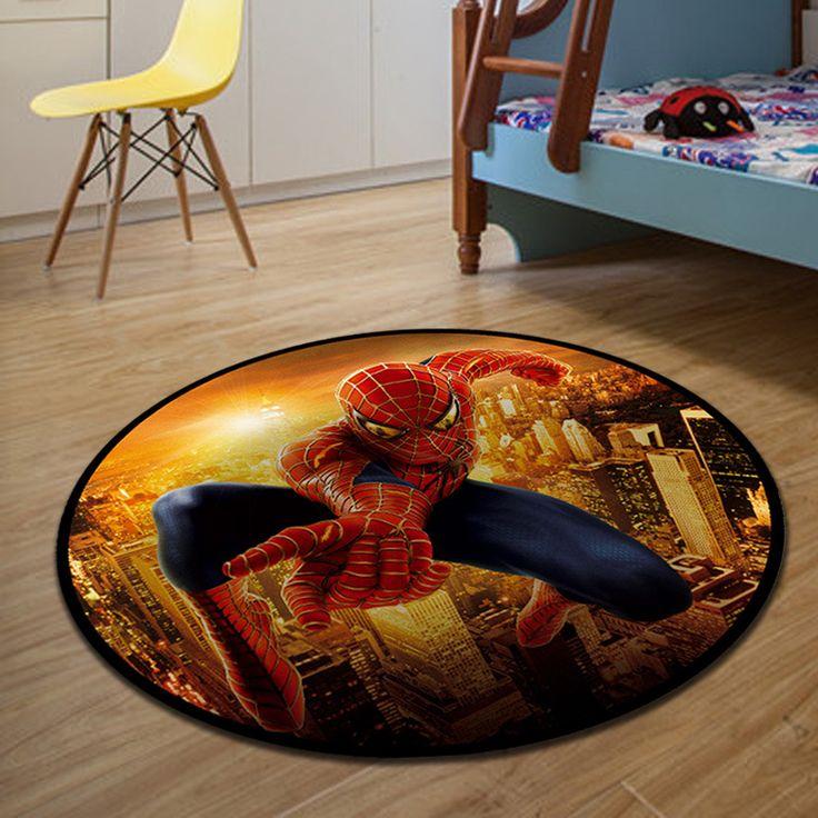 80*80cm round home floor mats Cartoon carpets for Living room non slip doormats car floor mat tapetes kids play mat