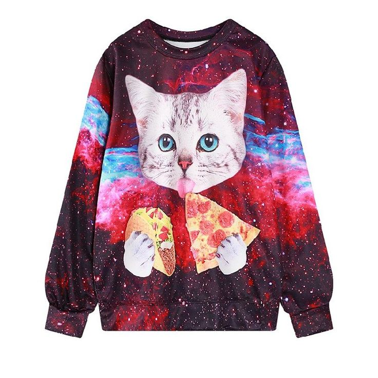 Galaxy Pizza Taco Cat Sweater  $27.95 Get a discount http://syndromestore.com?rfsn=361089.f8e07