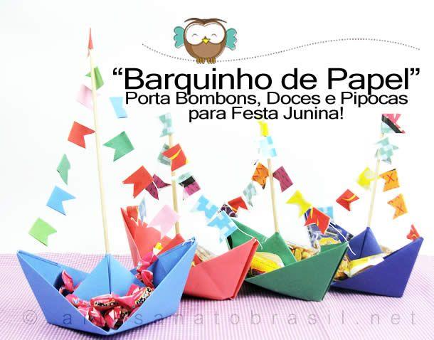 "Barquinho de Papel"" #festa #junina"
