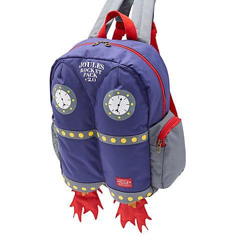 Buy Little Joule Children's Junior Rocket Backpack, Blue Online at johnlewis.com