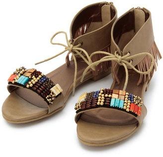 beads sandal / ShopStyle: Supremacy Puff フリンジビーズデザインサンダル