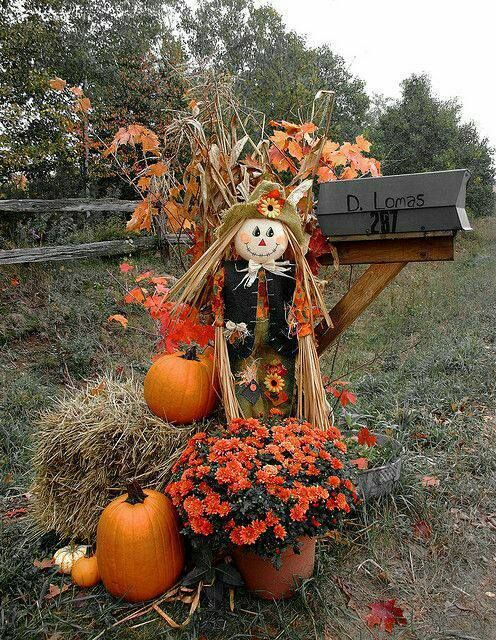 scarecrow mailbox decoration ideas for halloween so cute - Fall Outdoor Decorations