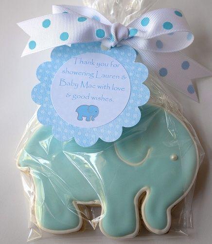elephant baby shower favors | Sweet elephant cookie favor for a baby shower. | Do Me A Favor