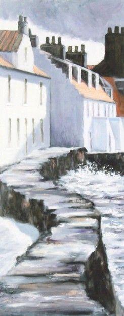 Gina Wright, Sea Wall Westshore, Pittenweem | Scottish Contemporary Art