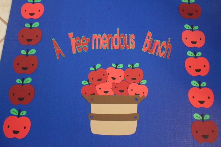 "Class Bulletin Board Title - Classroom - Apples - ""A Tremendous Bunch"" by…"