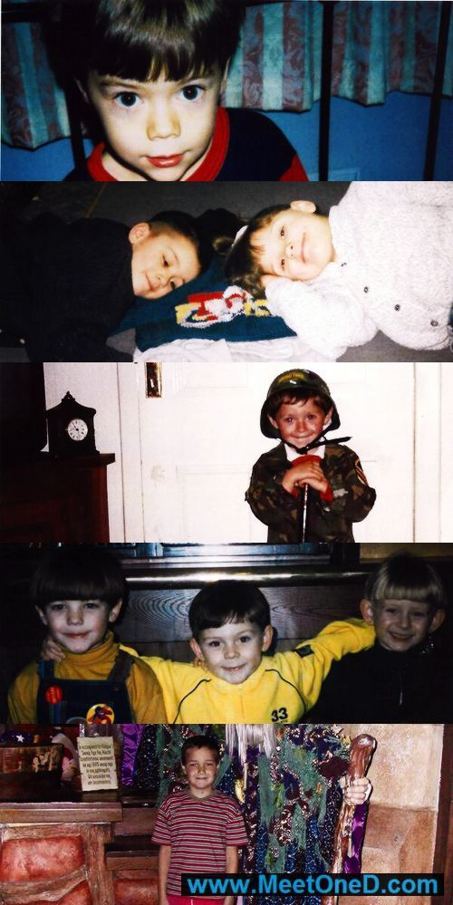 Omw they were adorable little kids!!! From top to bottom: Harry, Zayn, Niall, Louis, and Liam :D <3