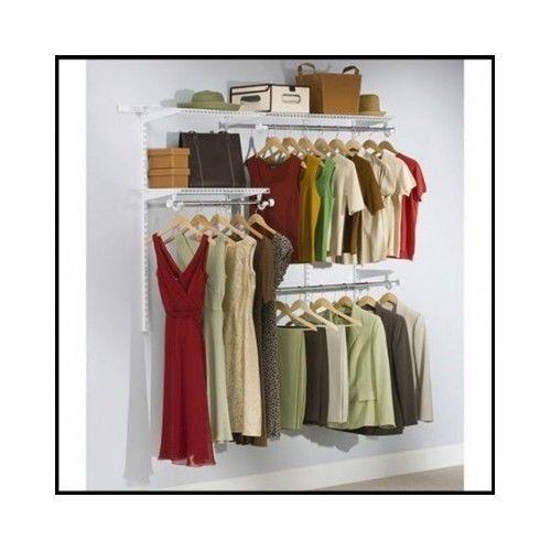 Walk-In-Closet-Organizer-System-Kit-Shoe-Clothes-Storage-Shelves-Hanger-Wardrobe