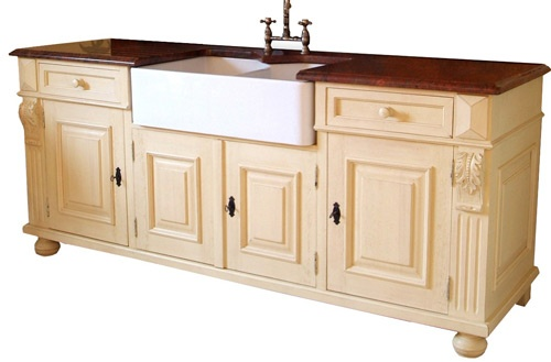 Vintage free standing kitchen sinks house beautiful for Antique free standing kitchen cabinets