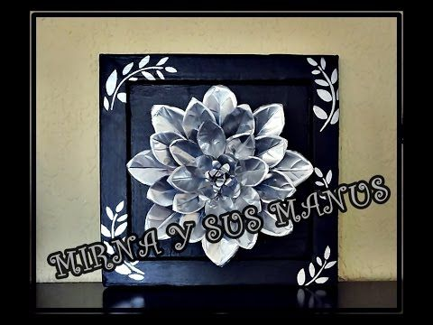 Decorando un espejo con botellas de plastico.Decorating a mirror with plastic bottles - YouTube