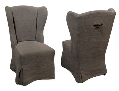 Beautiful From The Front, GJ Stylesu0027 Wing Chair Looks Like A Slipcovered Favorite;  From