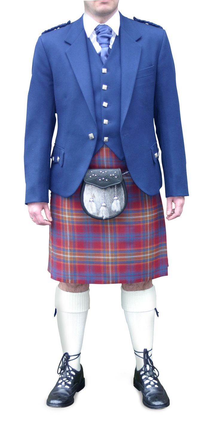 Navy Argyll jacket and Strathdon Tartan