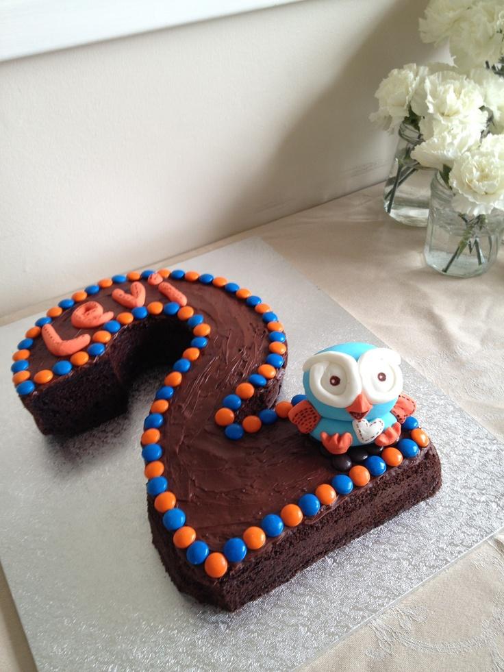 Hoot Number 2 Birthday Cake. Yum! Great job @Kathryn Whiteside B.