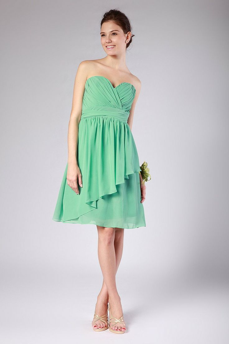 13 best bridesmaid dresses i like images on pinterest beautiful beautiful a line sweetheart sage chiffon knee length bridesmaid dress ombrellifo Choice Image