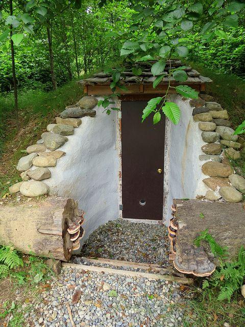 Underground cold storage complete! http://www.wildernesscollege.com/earthbags.html