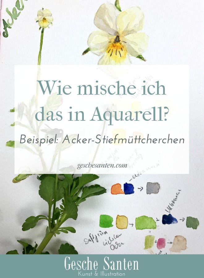 17 Best Images About Aquarell Tipps - Blumen Und Pflanzen Malen On ... Fruhlingsblumen Pflanzen Tipps