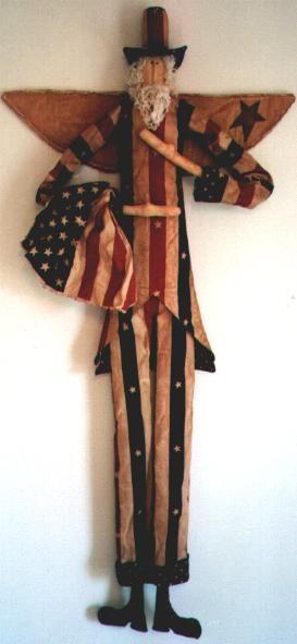 Sam: Pattern, Sam Dolls, Sam Primitive, Soft Sculpture Dolls, American Primitive, Primitive Leanings, Primitive Dolls, Dolls Americana