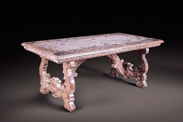 Hand-Carved Douglas Fir Dining Table II H 31 in. x W 79 in. x D 40 in.