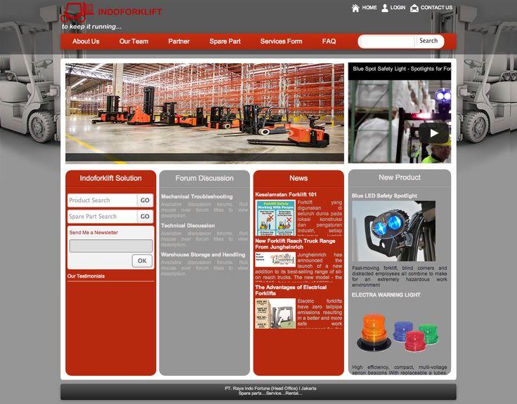 Website Corporate - Indoforklift - http://www.indoforklift.com #WebDesign #WebDevelopment #Indoforklift #Forklift #Jasa_Pembuatan_Website #WebCorporate