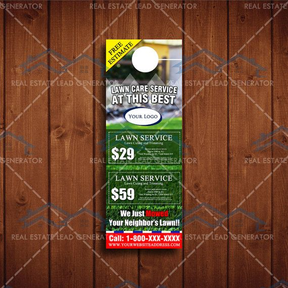Best Lawn Care Landscaping Door Hangers Images On   Door