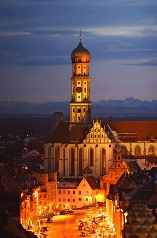 St. Ulrich Church, Augsburg, Germany love this little city