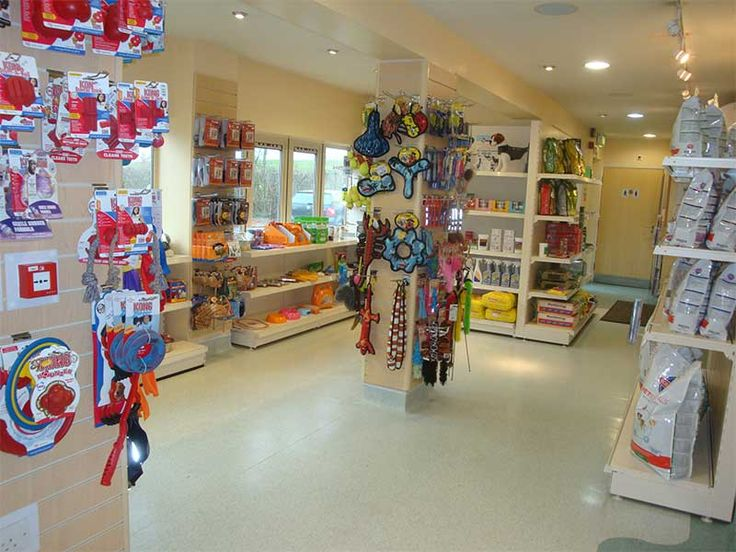 Nice retail area in the clinic reception Shop Drove Vets