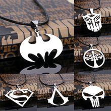 Hot sales! Mode cospaly sieraden assassins creed superman batman ketting rvs hanger ketting voor mannen(China (Mainland))
