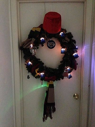 Brilliant Doctor Who Christmas wreath