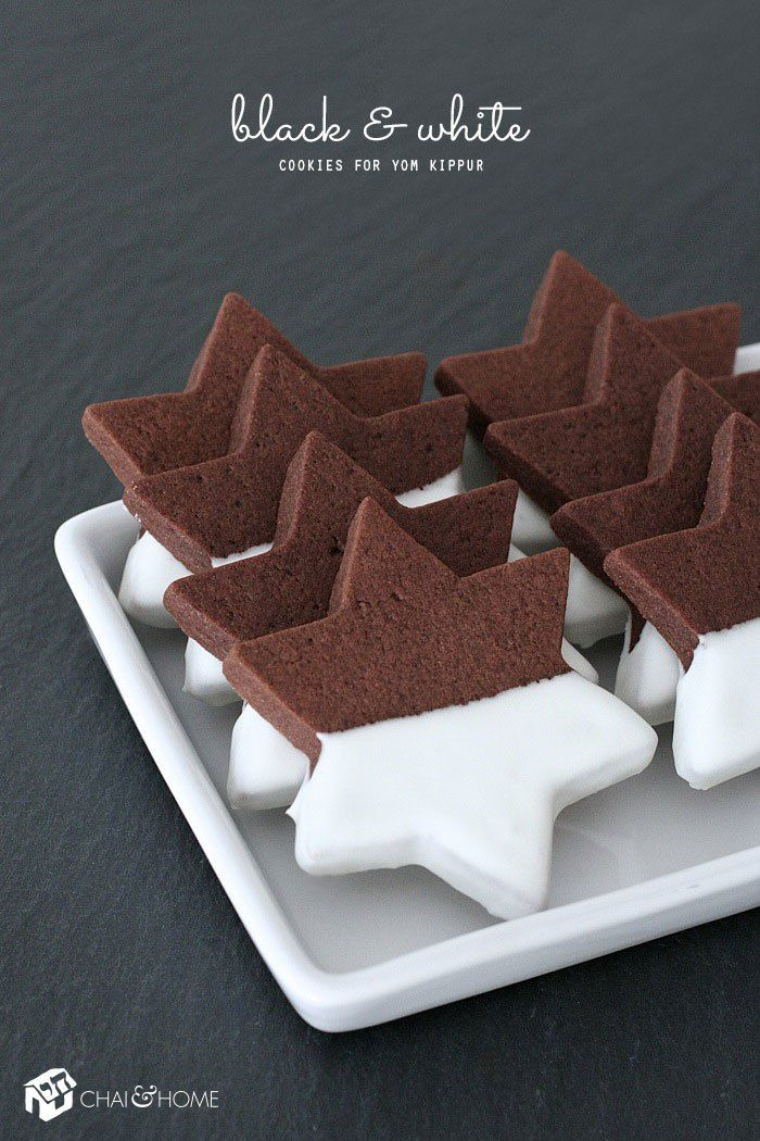 Black and White Cookies For Yom Kippur