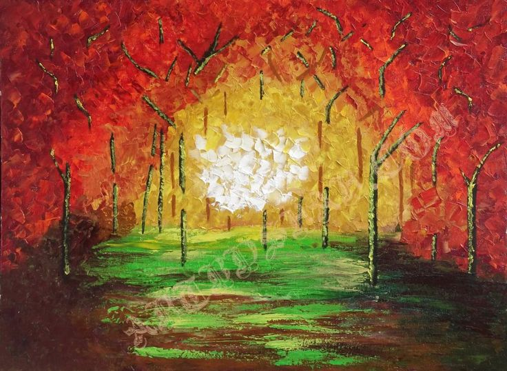 Deep in Forest – Beautiful Abstract Painting of a Deep Forest