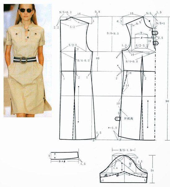 22 best Patrones de costura images on Pinterest | Sewing patterns ...
