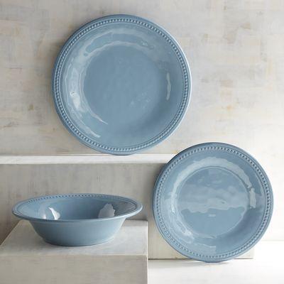 Beaded Smoke Blue Melamine Dinnerware | Pier 1 Imports