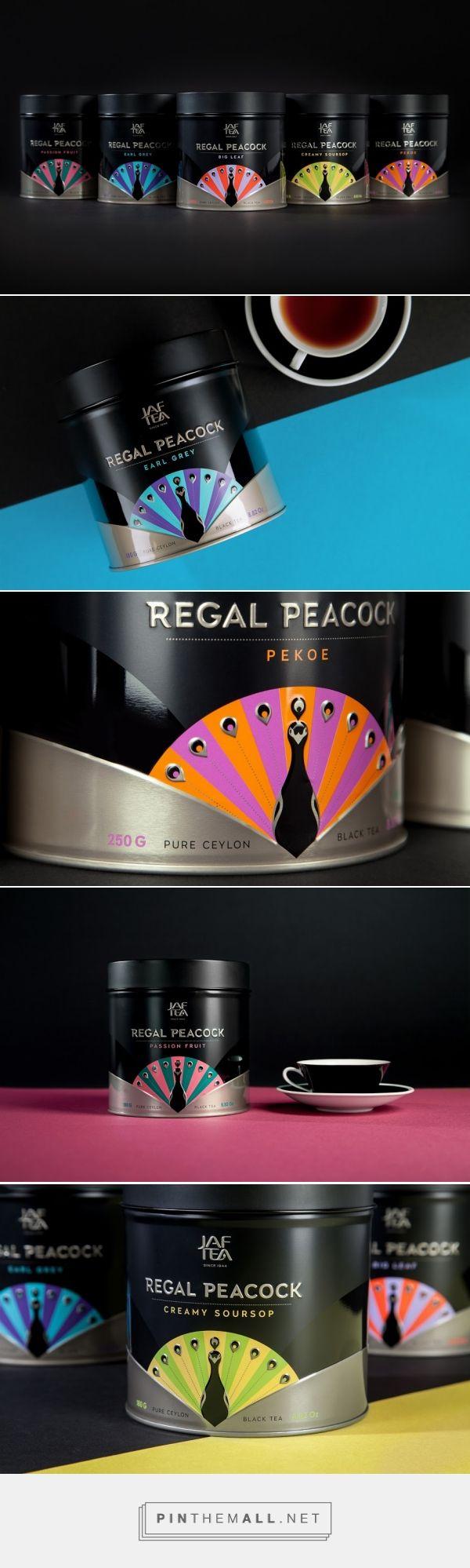 Regal Peacock tea packaging design by Openmint (Russia) - http://www.packagingoftheworld.com/2016/04/regal-peacock.html