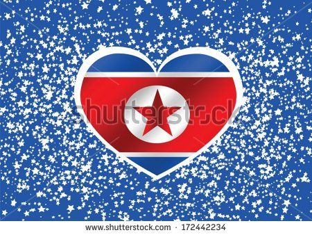 North Korea flag themes idea design