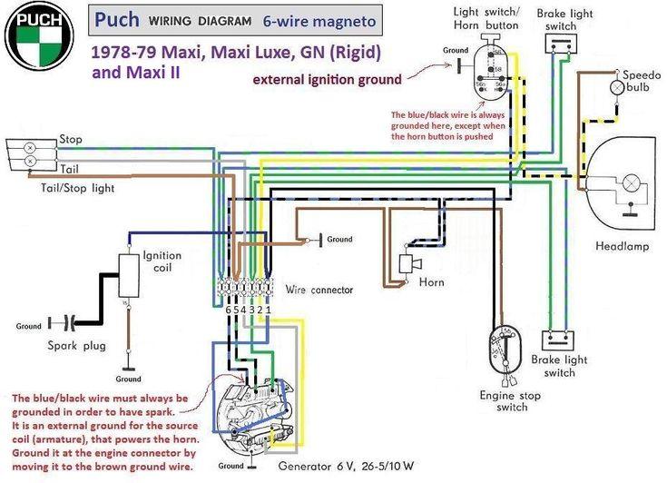 Puch Wiring Diagram 1978-79 6