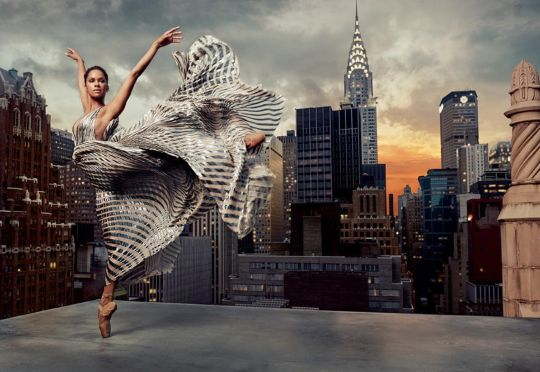 Misty Copeland, dancing on rooftops. Photo: Mark Seliger