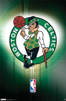 Boston Celtics Official NBA Basketball SMILING LEPRECHAUN Logo Poster - Costacos Sports