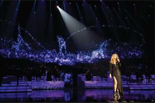 "Céline on stage; from her Las Vegas show ""Céline"""